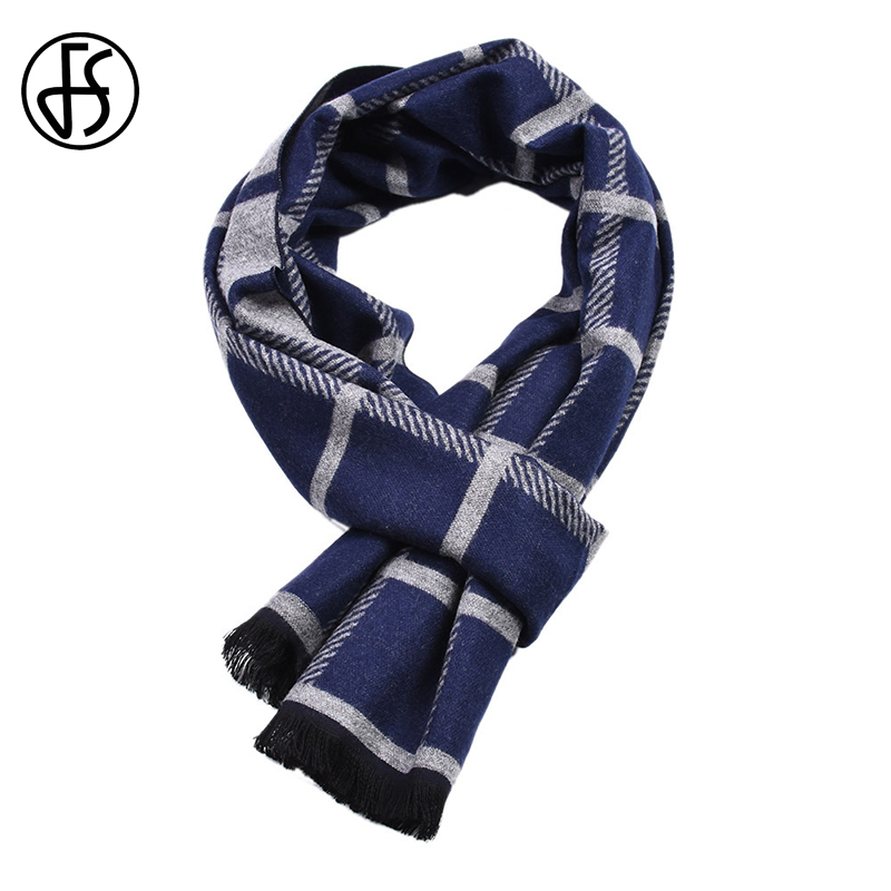 FS 2018 Cashmere Geometric Plaid   Scarf     Wrap   Shawl Pashmina   Scarves   For Men Luxury Brand Winter Warm Bufanda Echarpe Homme Tassel