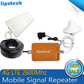 Smart LTE 2600MHz 65dB LTE UMTS 4G Wireless Mobile Phone Repeater Signal Booster with antenna kit  using for office, home