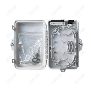 Image 2 - Zhwcomm Hoge Kwaliteit 4 Core Fiber Optic Terminal Box Ftth Box Glasvezel Verdeelkast Gratis Verzending