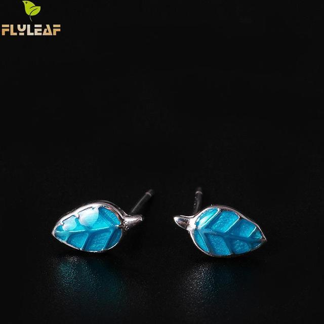 Фото женские серьги flyleaf из серебра 100% пробы с синими эмалью цена