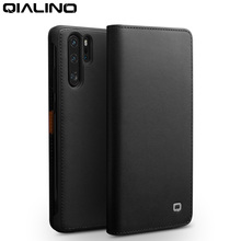 Qialino Genuine Leather Fashion Flip Case For Huawei P30 6.1 Inch Handmade Card Slots Phone Cover  Pro 6.47