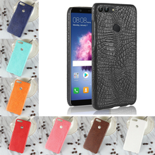For Huawei P Smart Case Luxury Crocodile PU Leather Skin Hard PC Back Cover protective Phone Case For Huawei Enjoy 7S Enjoy7S стоимость