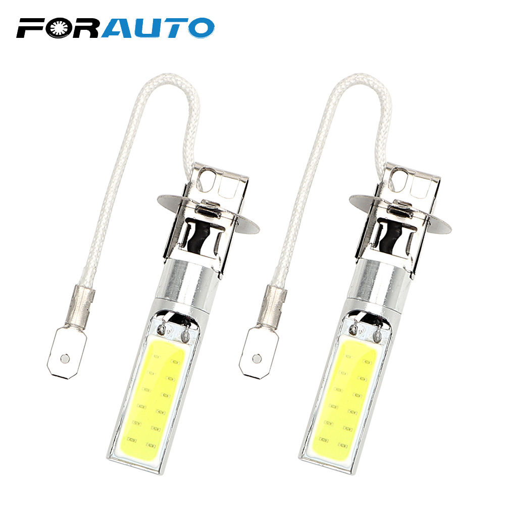 2pcs Universal Driving Bulb COB LED Car Headlight Super Bright H3 Headlamp Auto Fog Lamp