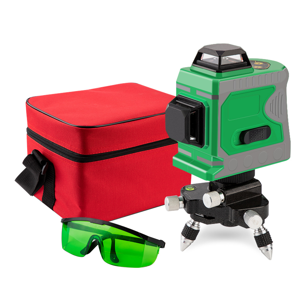 12 Lines 3D Green Laser Level 360 Horizontal And Vertical Cross Laser Line Self Leveling Indoor