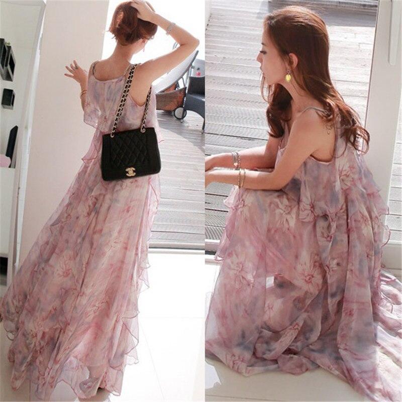 Best buy ) }}2016 women dress elegant bohemian beach summer dress ultra perfect fairy Sleeveless sexy