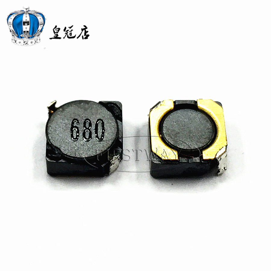 10pcsSMD power inductors 6D28 6D38 68UH word:680 7*7*3MM7*7*4MM Shielding inductance