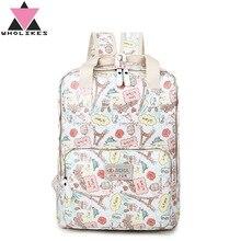 2016 Новая мода бренд многофункциональный холст цветы Школа Рюкзак подростков аниме школьная сумка большой Ёмкость путешествия рюкзак