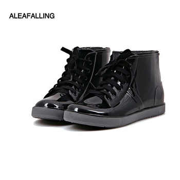 Aleafalling Fashion New Arrival Sewing Waterproof Flat With Shoes Woman Rain Woman Water Rubber Ankle Boots Cross-tied Botas - DISCOUNT ITEM  25% OFF All Category