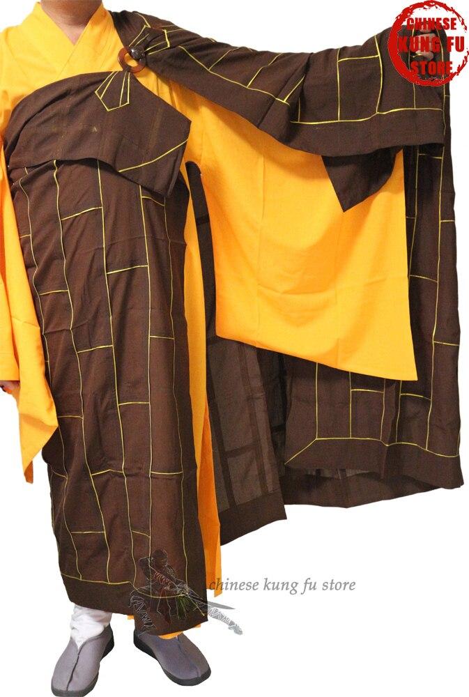 High Quality Shaolin Buddhist Monk Dress Kesa Haiqing Robe Meditation Suit