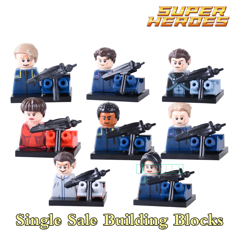 Building Blocks Star Trek Enterprise PG8054 Scotty Spock Figures Super Heroes Star Wars Action Bricks Kids DIY Toys Hobbies building blocks super heroes back to the future doc brown and marty mcfly with skateboard wolverine toys for children gift kf197