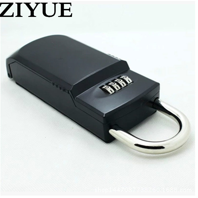 Free Shipping Security Lock Key Storage Box Organizer Zinc Alloy Keyed Locks with 4 Digit Combination Password Hook Secret Safe