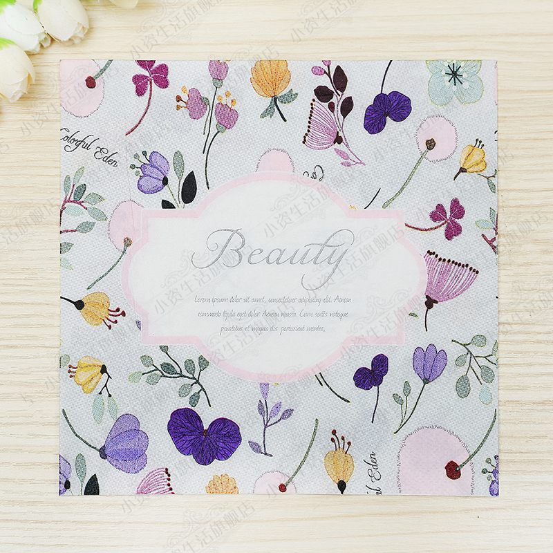 Purple Flowers Beauty Design Paper Napkins Cafe & Party Tissue Napkins Decoupage Decoration Paper 33cm*33cm 20pcs/pack/lot