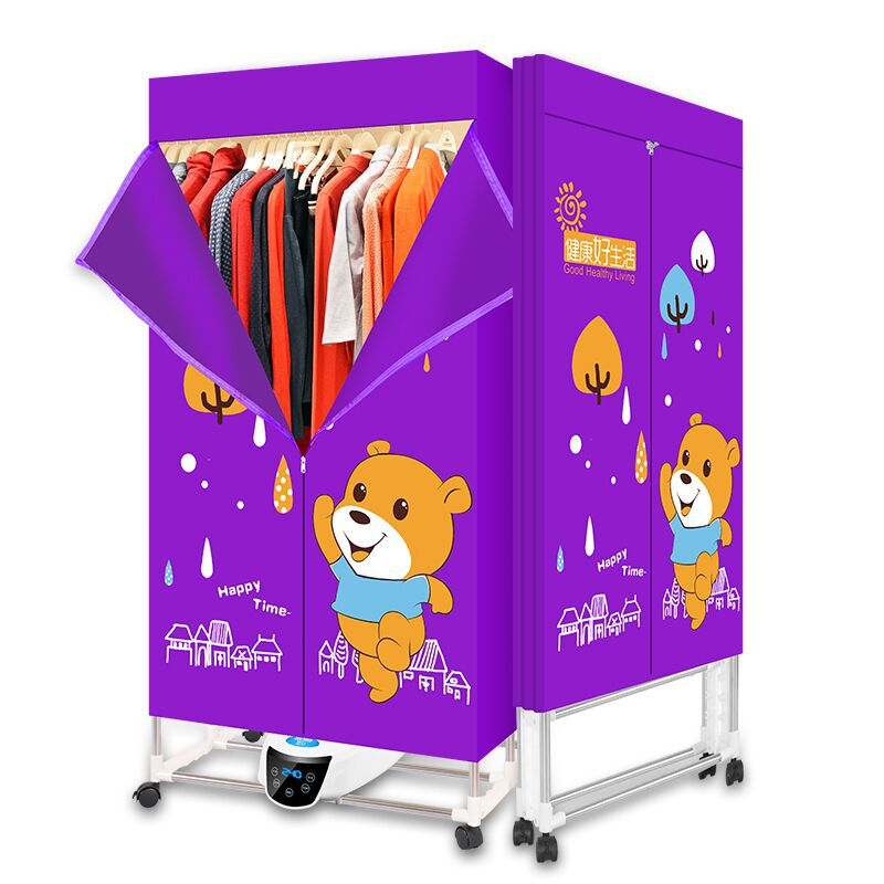 Lovely Cartoon Mini Portable Dryer Fast Drying Household Small Dryer Dormitory Intelligent Foldable Travel Purple Yellow Itas1402 As Effectively As A Fairy Does Household Appliances Home Appliances