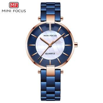 MINIFOCUS Women Watches Luxury Brand Casual Fashion Ladies Quartz Womens Dress Watch Ladys Montre Femme Wrist Watch Female Clock 1