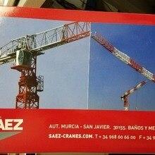 Изысканный сплав модель ROS 1: 87 SAEZ SL-55 башенный кран строительные машины литая игрушка модель 80100 для украшения коллекции