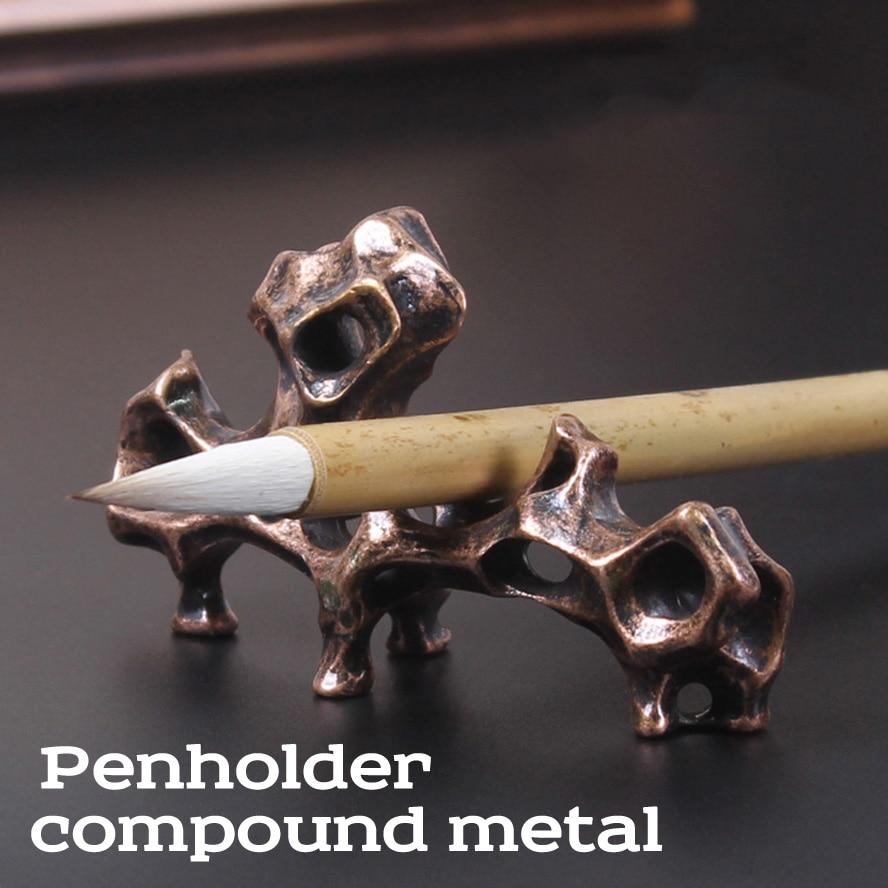 compound metal Artwork Penholder Chinese Painting Callilgraphy Brush holdercompound metal Artwork Penholder Chinese Painting Callilgraphy Brush holder