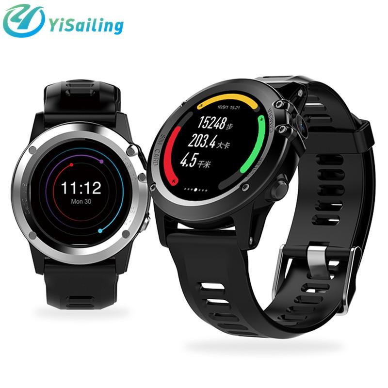 imágenes para YiSailing H1 Inteligente reloj Android MTK6572 512 MB 4 GB ROM GPS SIM 3G WIFI IP68 impermeable de 5MP Cámara de Altitud Del Ritmo Cardíaco Smartwatch