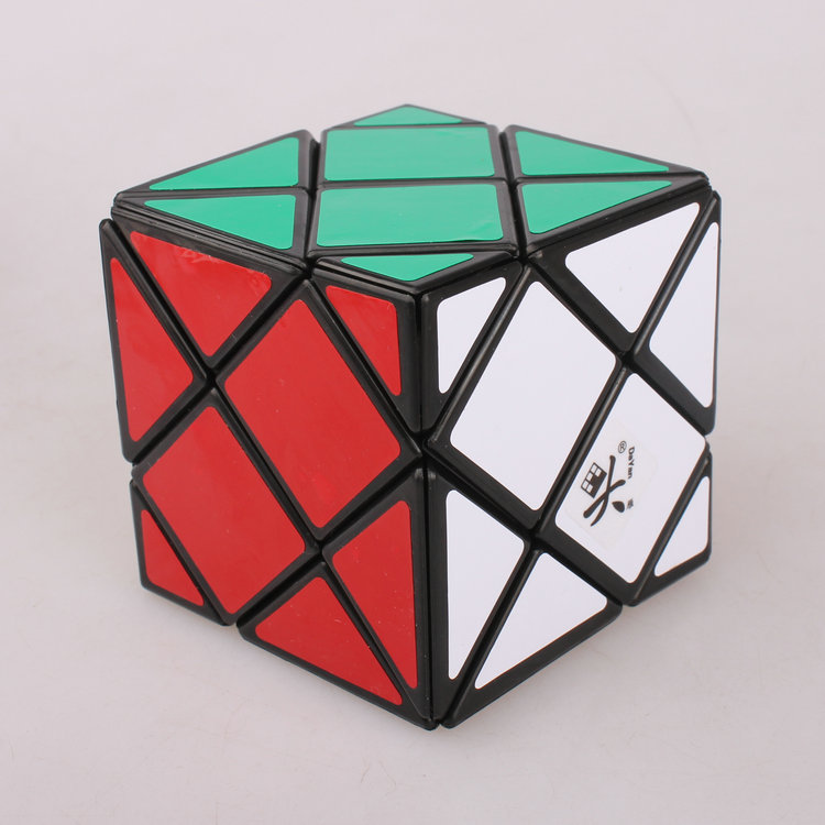 Dayan Dino Skewb 57mm Black/White Stickerless Puzzle Cube Professional Speed Puzzle Educational Special Toy Cubo Magico