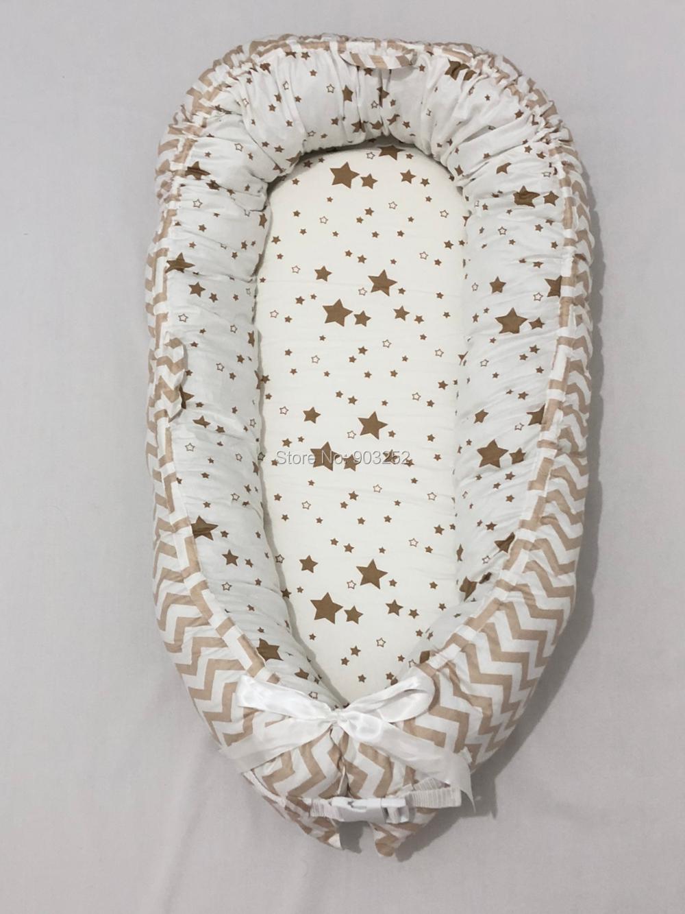 Разборные Детские гнезда кровать или малыша Размер гнезда, мята и совы, портативная кроватка, co спальное место babynest для новорожденных и малышей