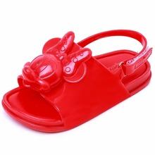 2019 New Melissa Mickey Sandals Jelly Crystal Children Shoes Minnie Girls Slippers Princess  Beach