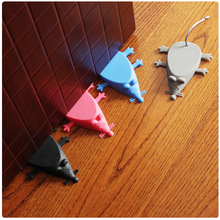 Door-Stopper Home Wedge Security Baby Silicone Children Cartoon for Anti-Pinch Hand Mouse-Shape