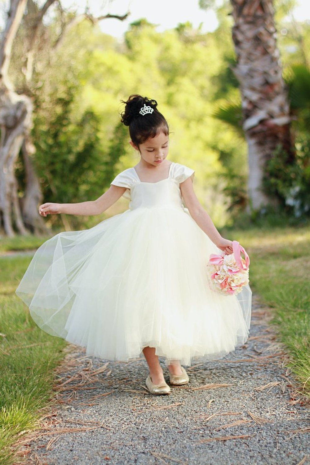 2019 Special Occasion   Flower     Girl     Dresses   Cute and Lovely Tulle Formal Pageant Gowns For Little   Girls   Birthday Party   Dress