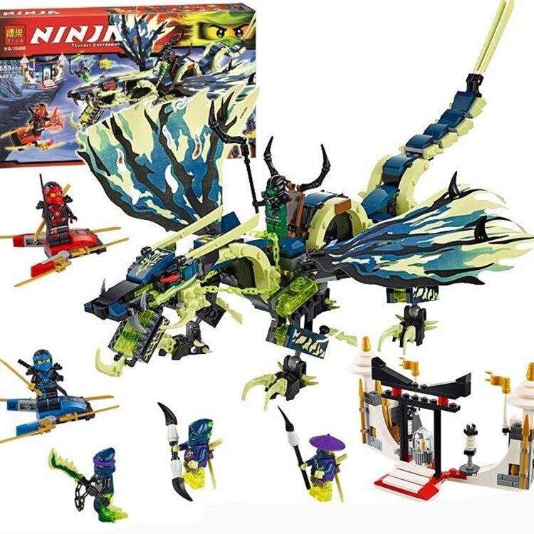 658pcs Bela 2016 new 10400 Phantom Ninja Attack of the Morro Dragon Building Kit Blocks Set