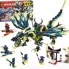 658pcs Bela 2017 new 10400 Phantom Ninja Attack of the Morro Dragon Building Kit Blocks Set