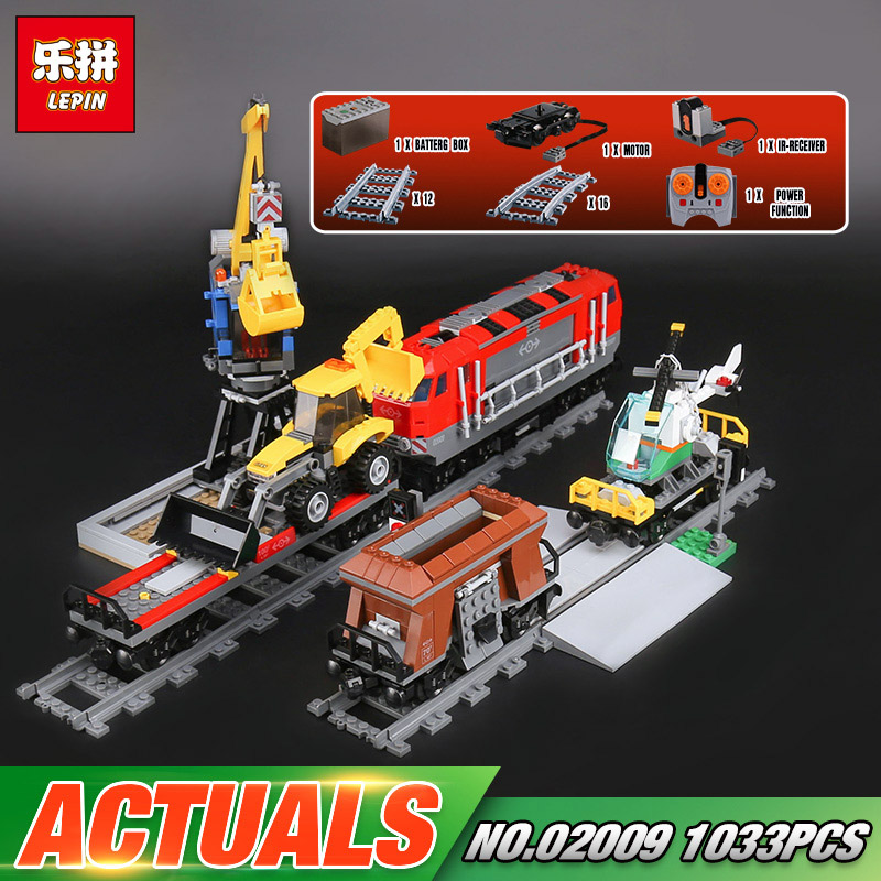 Lepin 02009 Genuine 1033Pcs City Series The Heavy-haul Train Set 60098 Building Blocks Bricks Educational Toys As Christmas Gift