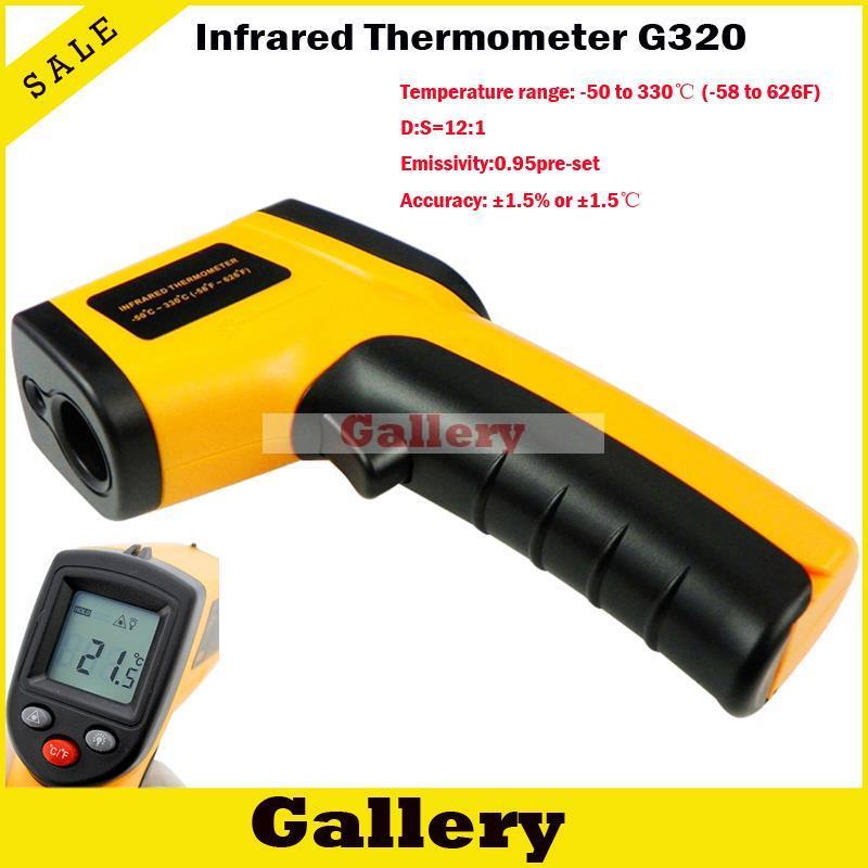 Électronique Thermomètre Sans Contact Lcd Ir Laser Infrarouge Numérique Température Gun Point Gm320 50 330 C Emballage de Détail