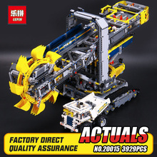 2016 New LEPIN 20015 3929Pcs Technic Bucket Wheel Excavator Model Building assemble Kit Blocks Brick Compatible