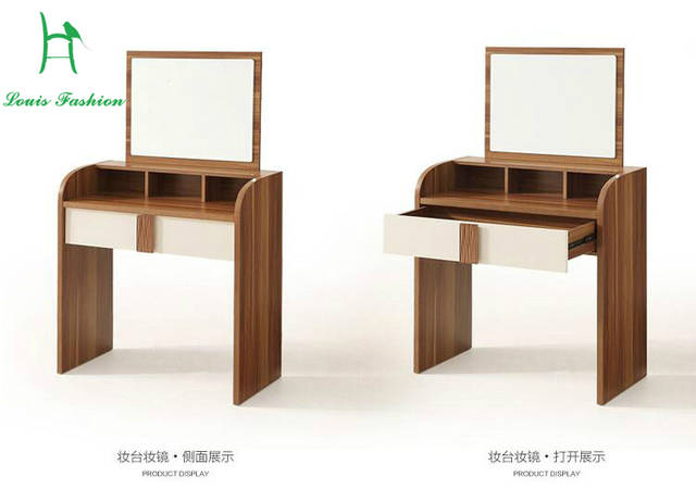US $160.0 |Louis fashion walnut dresser bedroom, small apartment make up  desk, modern simple distribution table, mirror stool,-in Dressers from ...