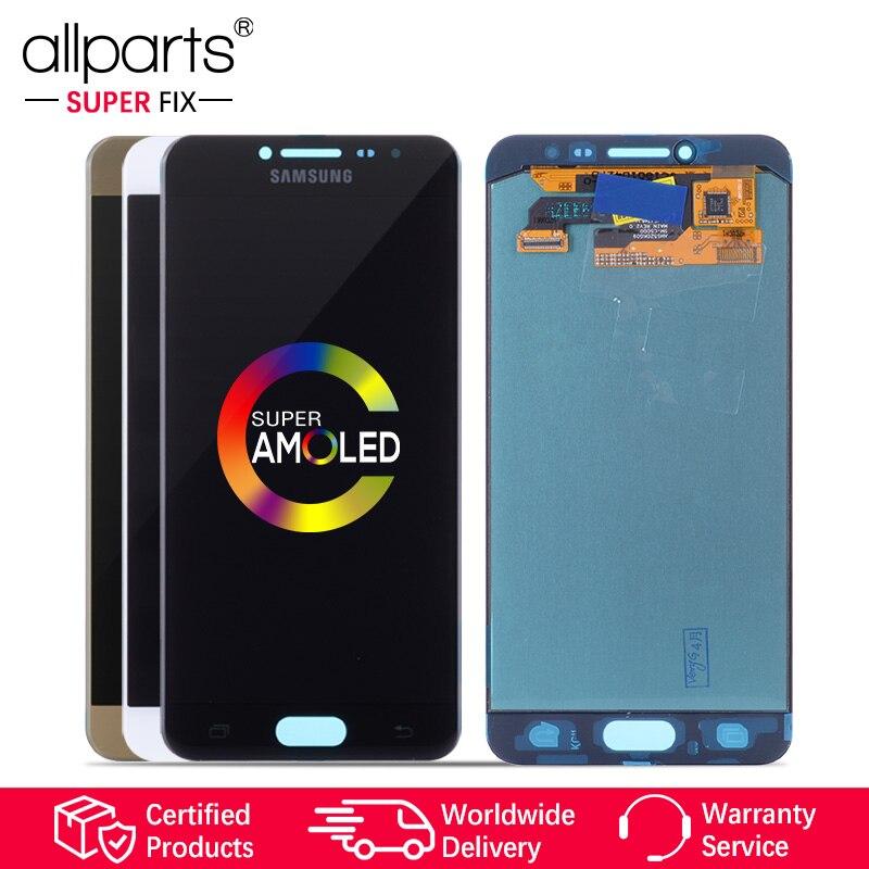 5.2'' Оригинальный тачскрин дисплей экран дляSAMSUNG Galaxy C5 сенсорный дисплей Оригинал LCD с тачскрином в рамке замена запчасти C5000 Черный белый зол...