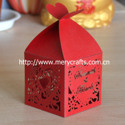 Red Wedding Favor Boxes Love Heart Shaped Favors Wholesale Made In China