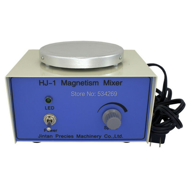 HJ-1 Laboratory Magnetic Stirrer Plate 2400RPM,Magnetism Mixer, 1000ml Volume  , DHL Free Shipping brand new flatspin small magnetic stirrer thin laboratory mixer adjustable speed 15 1500 rpm