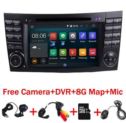 En Stock Voiture lecteur Multimédia Android 7.1 GPS 2 Din Auto radio Pour Mercedes Benz E-Classe W211E200 E220 E300 E350 Quad Core Wifi