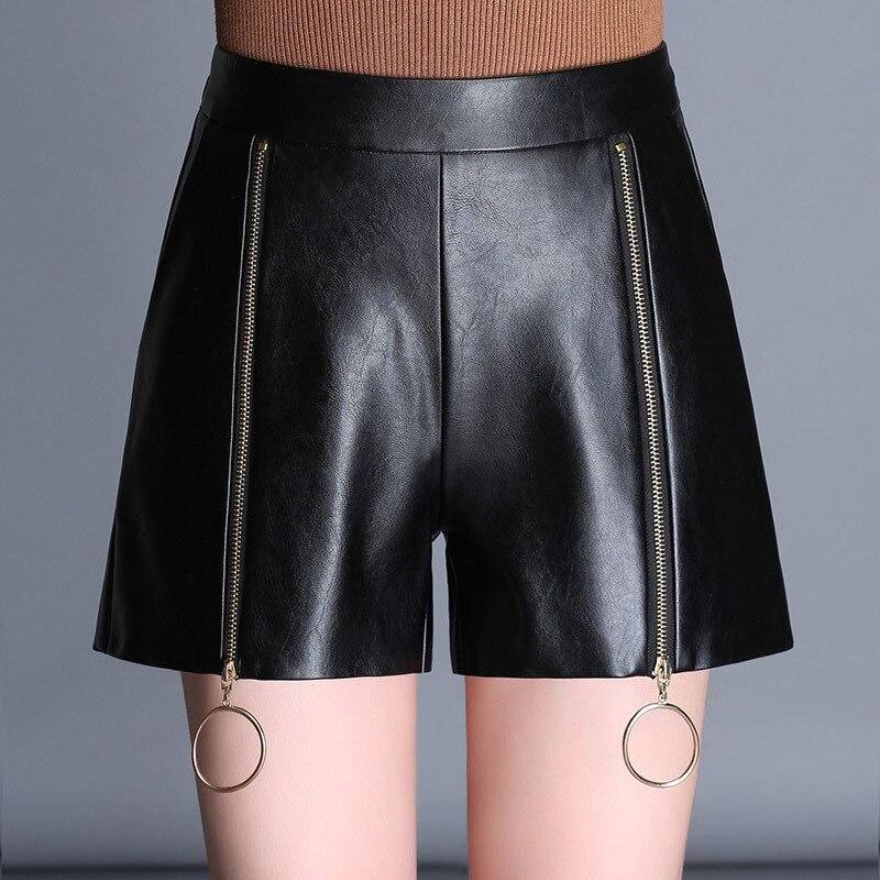 vari tipi di davvero economico la più grande selezione di Pelle Nera sottile Shorts Donna Pantaloni Corti Anello di ...