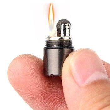 mini kerosene lighter keychain and gasoline lighter fire starter for outdoor