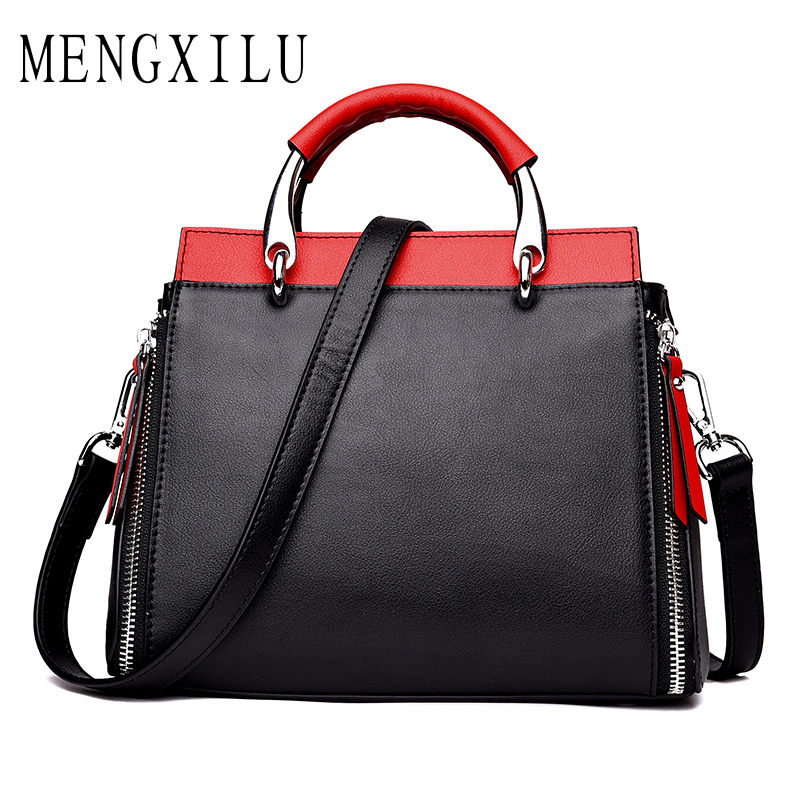 Cow Leather Tote Bag Women Genuine Leather Handbags Designer High Quality Crossbody Bags Handbags Women Famous Brand Panelled chispaulo women genuine leather handbags cowhide patent famous brands designer handbags high quality tote bag bolsa tassel c165