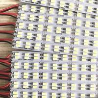 50pcs*50cm Factory Wholesale Double row DC 12V 72/84 SMD 5630 LED Hard Rigid LED Strip Bar Light brightness x bright free ship