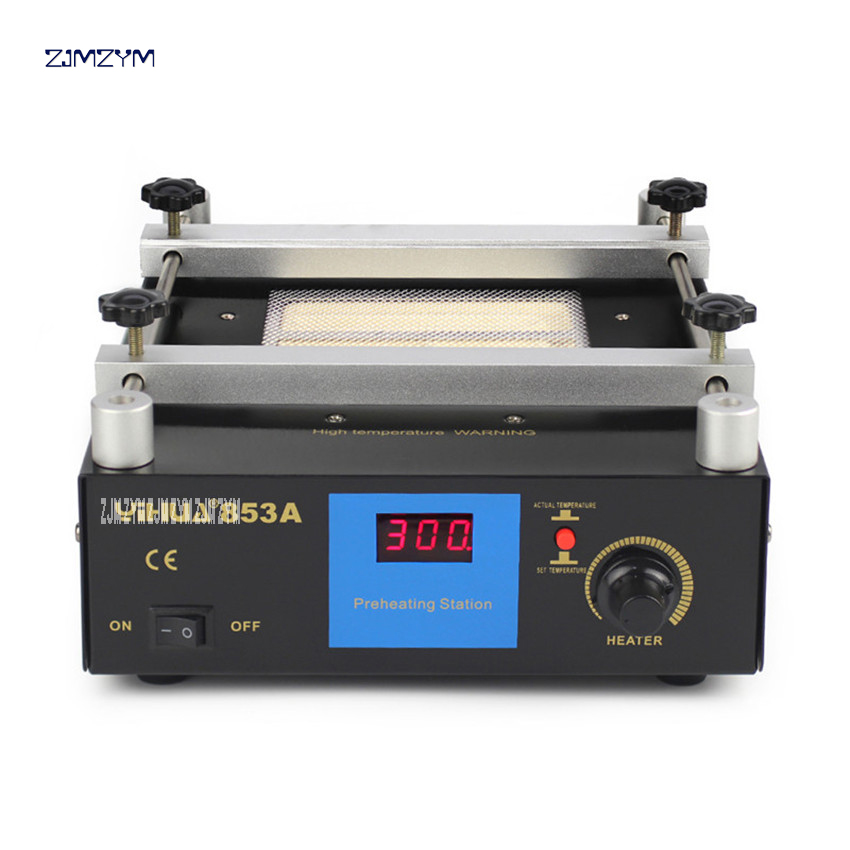 YIHUA-853A constant temperature lead - free preheating station BGA rework station digital display heating platform upgrade 600W