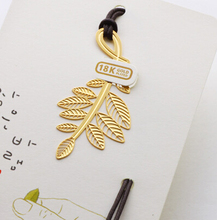 Delicate 18K Gold Plated Leaves Bookmark Paper Clip School Office Supply Escolar Papelaria Gift Stationery