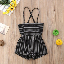 Baby Girls Striped Sleeveless Romper Jumpsuit Outfits