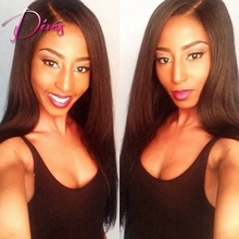 Silk Straight Silk Top Lace Front Human Hair Wigs Natural Color Brazilian Virgin Hair Lace Front Wig For Black Women
