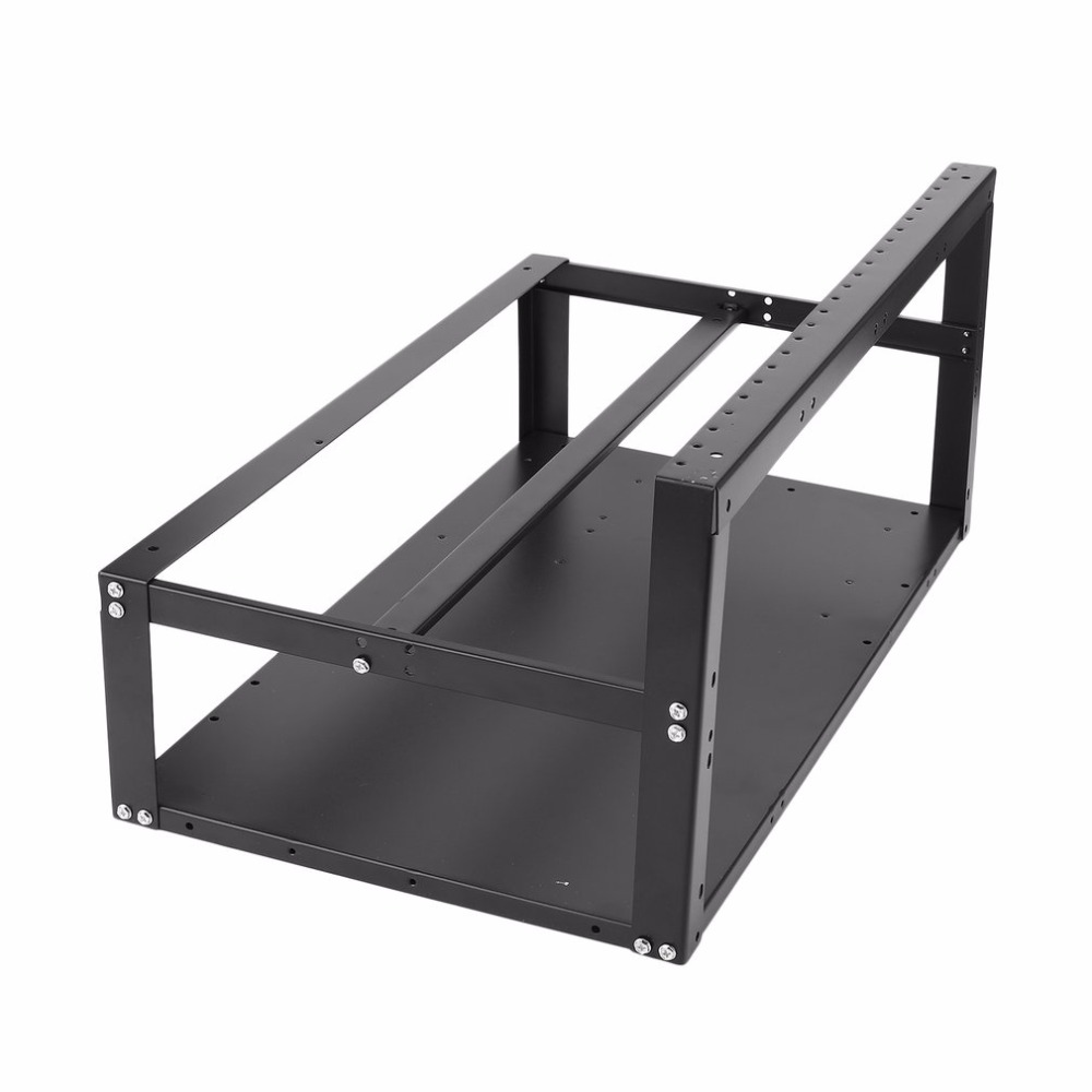 Open Air Frame Mining Rig Overlying Case Rack For 6 Gpu