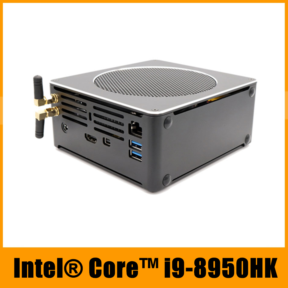 EGLOBAL Gaming Computer Intel i9 8950HK Xeon E-2176M i7 8750H 6 Core 12 Threads 12M Cache Nvme M.2 Nuc Mini PC Win10 Pro AC WiFi Воск