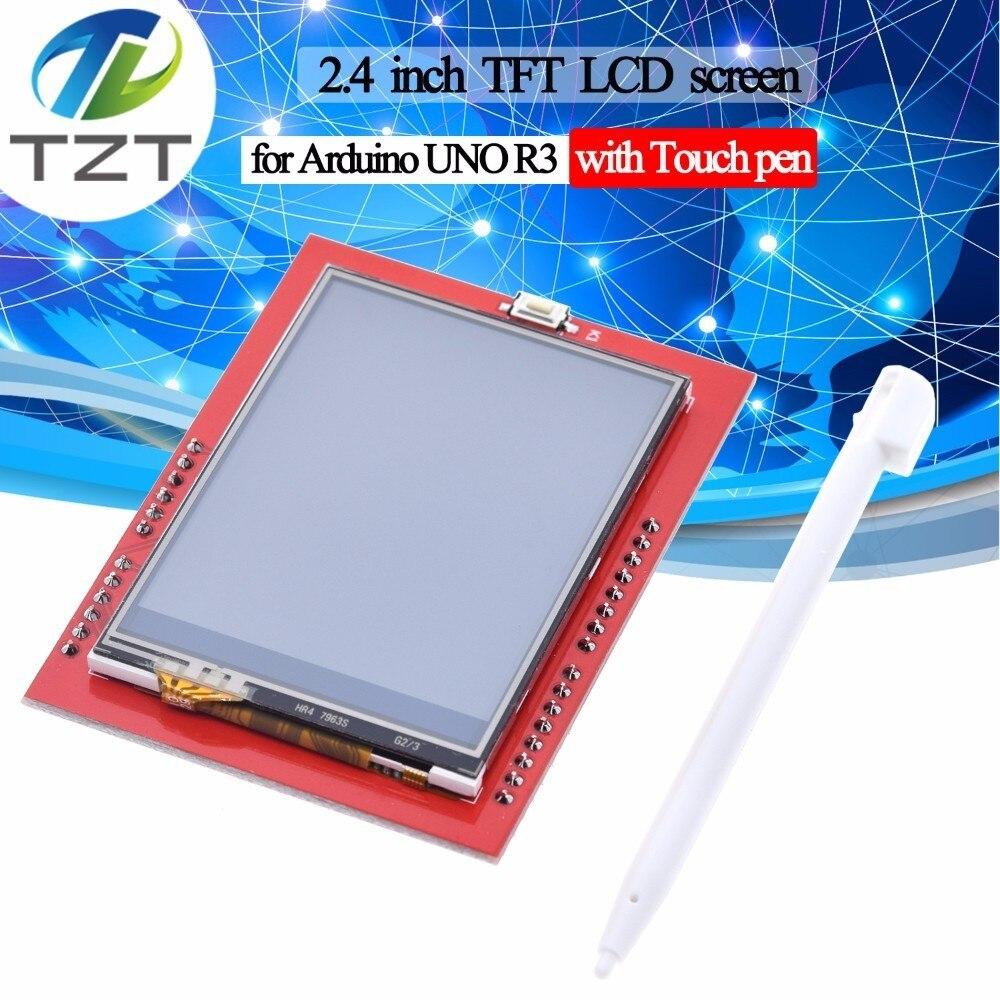 Módulo tft lcd de tzt 2.4 polegadas tft lcd tela para arduino uno r3 placa e suporte mega 2560 com caneta de toque, uno r3