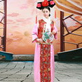Chinese Tradition Costume Women The Qing Dynasty Stage Dance Costume Chinese Princess Cosplay Costume for Party with Hat 89