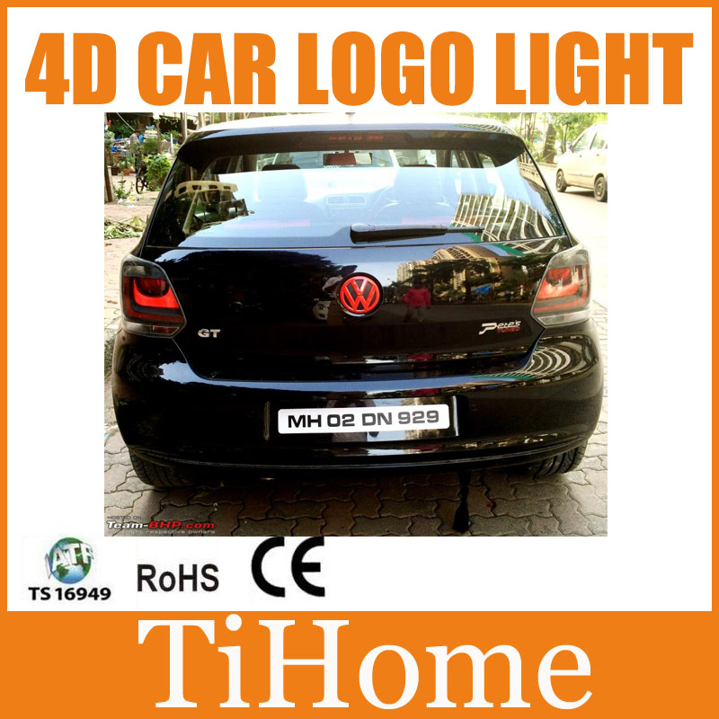 цены Free Shipping 4D LED Car LOGO Light/Lamp 4D LED car emblem badge light for VW Golf4/Golf5/Golf6