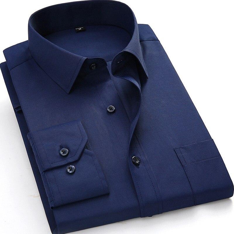 Hemden Qualifiziert Mferlier Herbst Männer Business Formale Hemd Langarm Größere Größe 9xl 10xl 11xl 14xl Mann Hohe Qualität Große 48 Blau Kleid Shirts Entlastung Von Hitze Und Sonnenstich